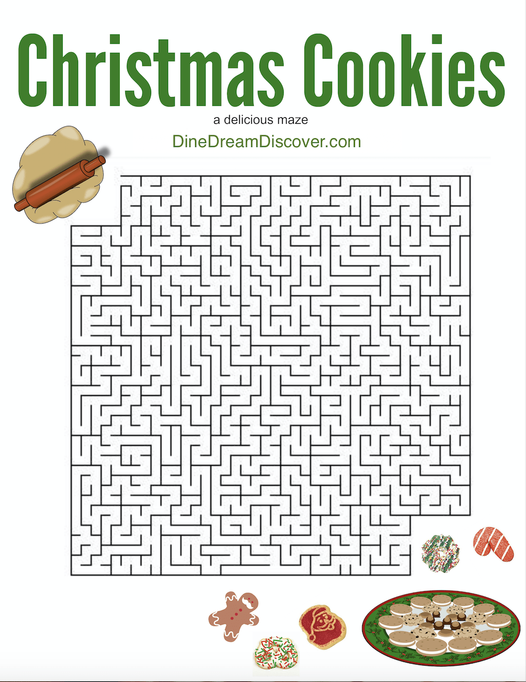 christmas maze printable games