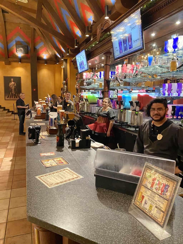beverage bar upon entering