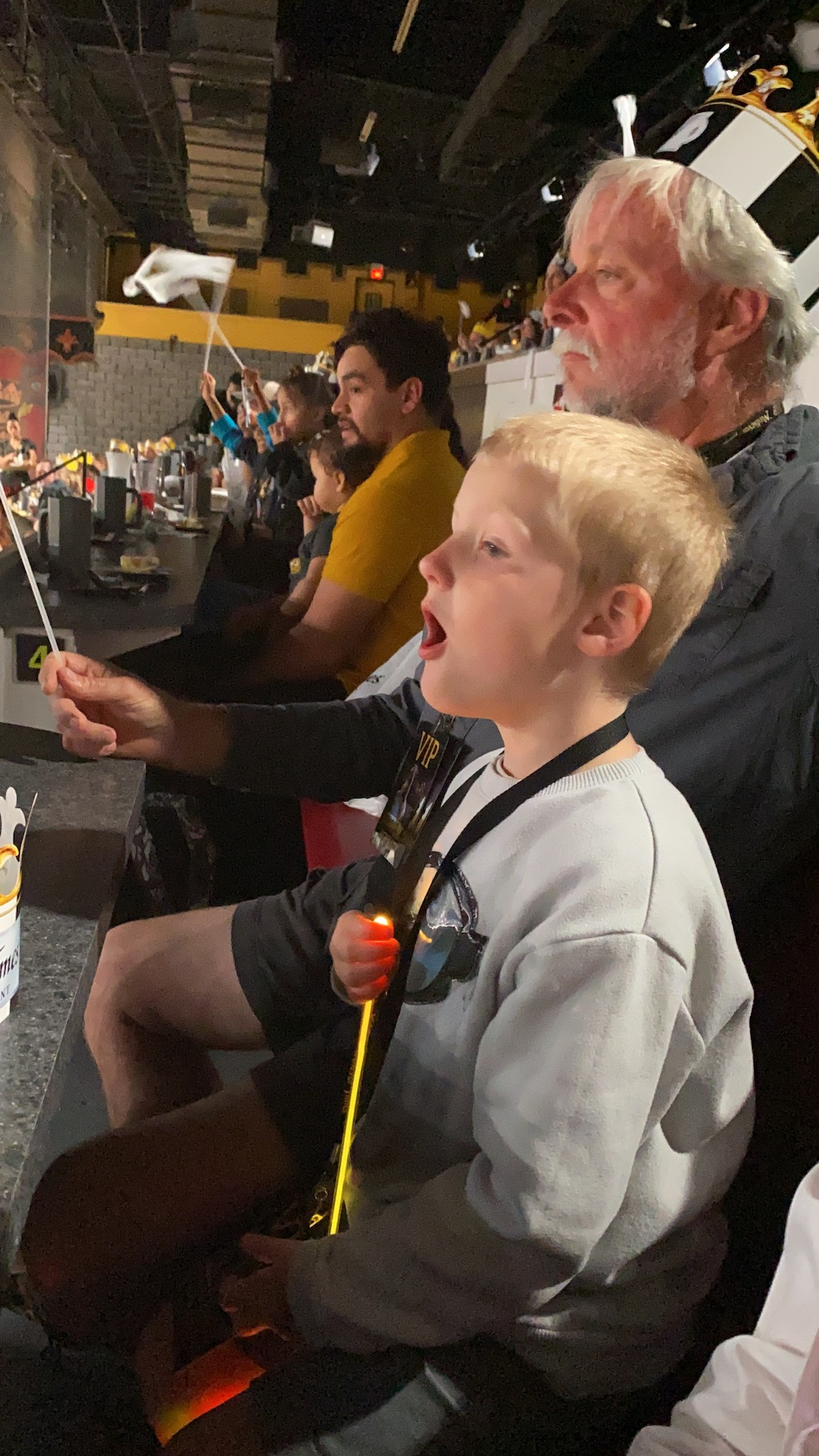noah enjoying the show