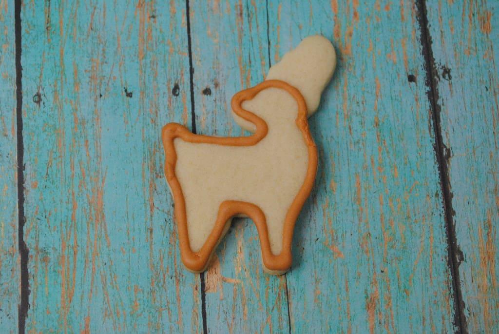 reindeer sugar cookie