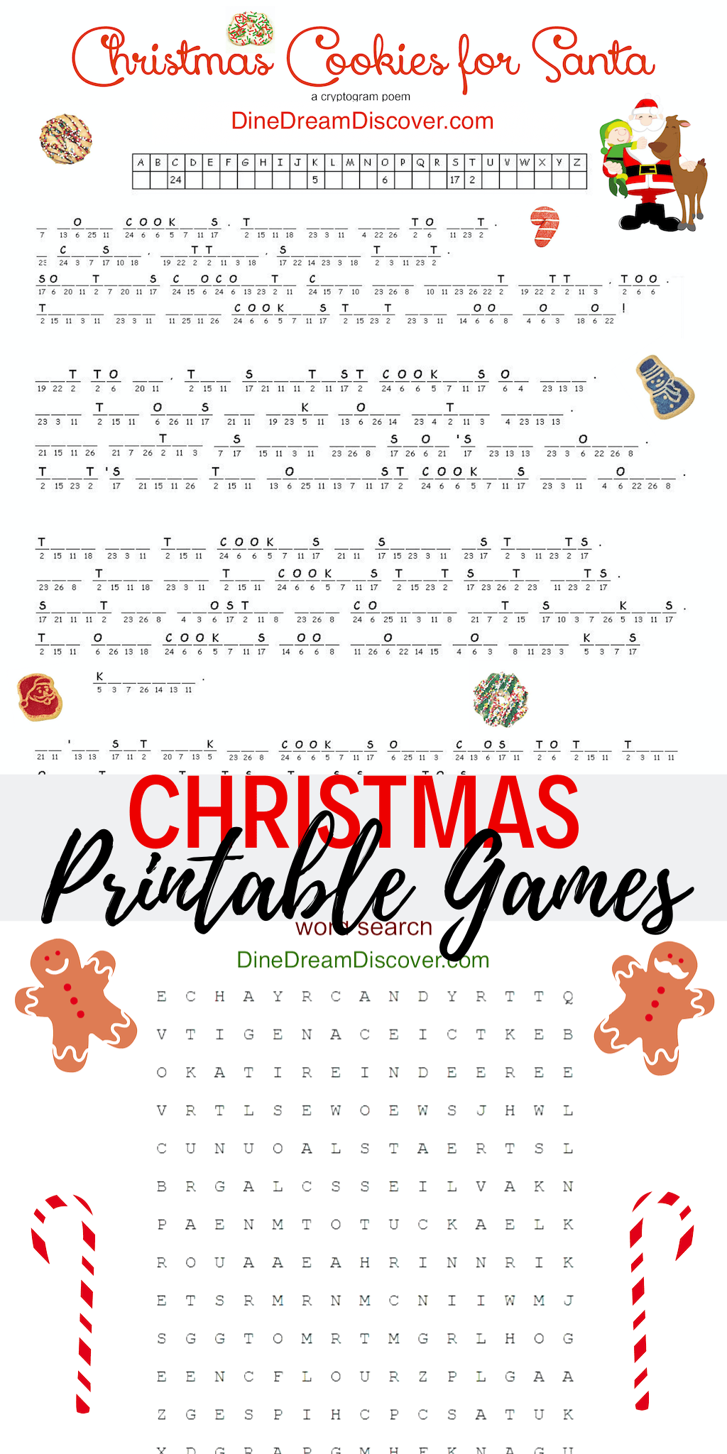 christmas cookies printable games