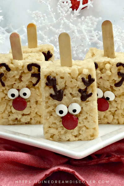 rudolph rice krispie treats