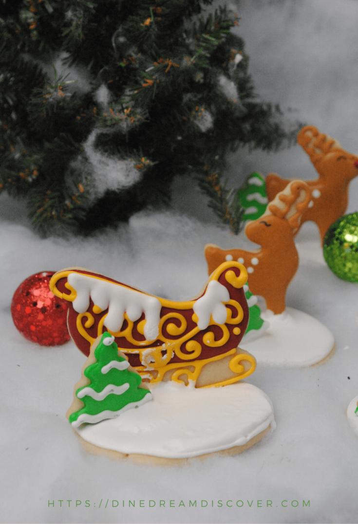 santas sleigh christmas cookies