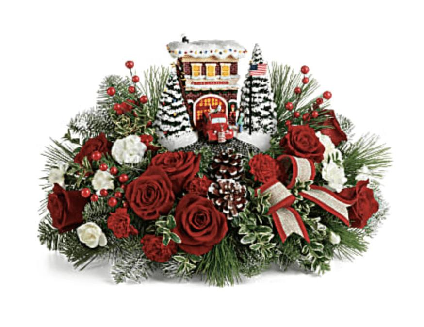teleflora fire station love out loud bouquet