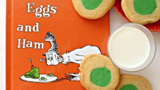 Green Eggs and Ham Slice and Bake Cookies