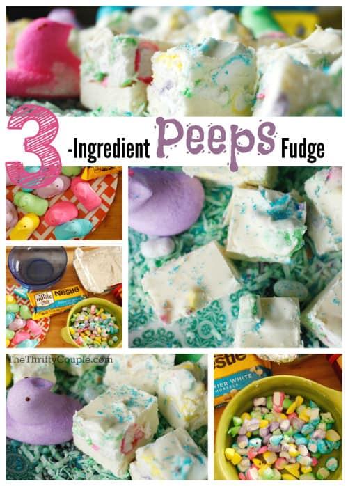 3-Ingredient Peeps Fudge Recipe