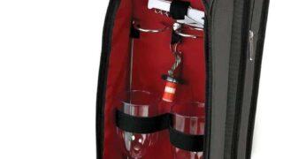 9 Piece Wine Travel Bag and Picnic Set