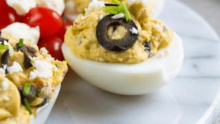 Best Greek Deviled Eggs