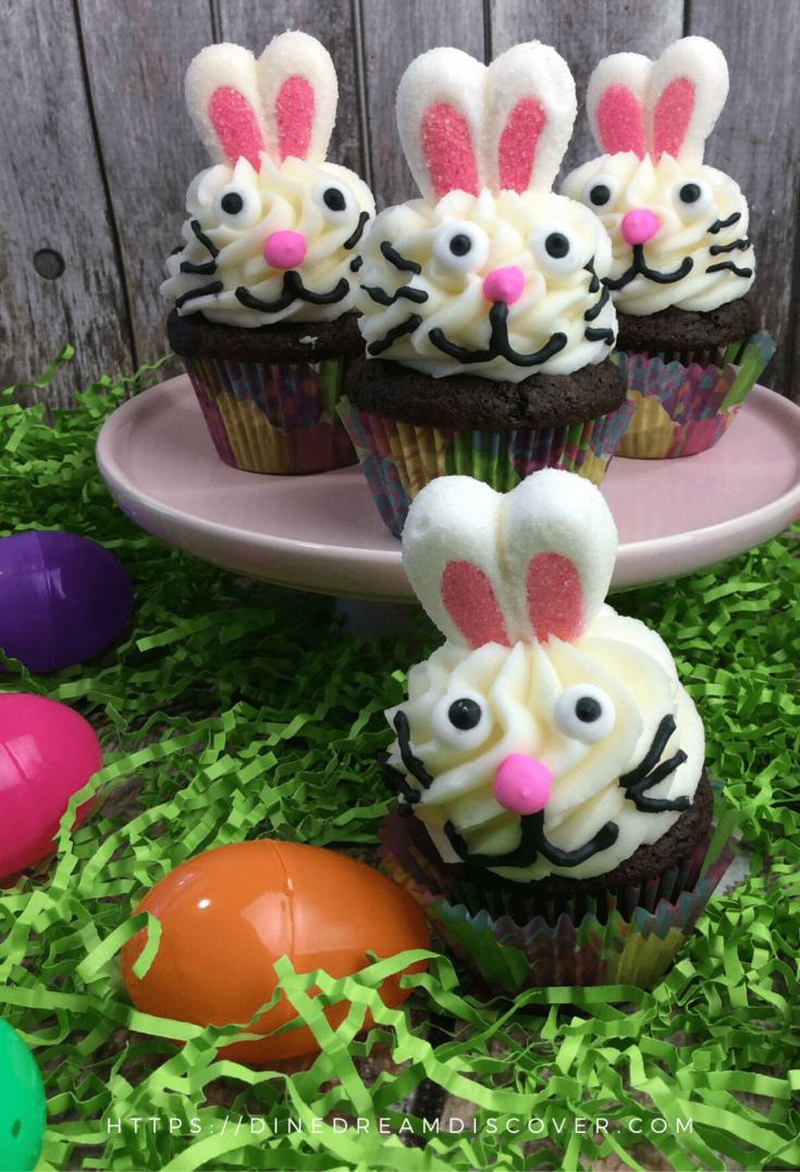 easter bunny cupcakes