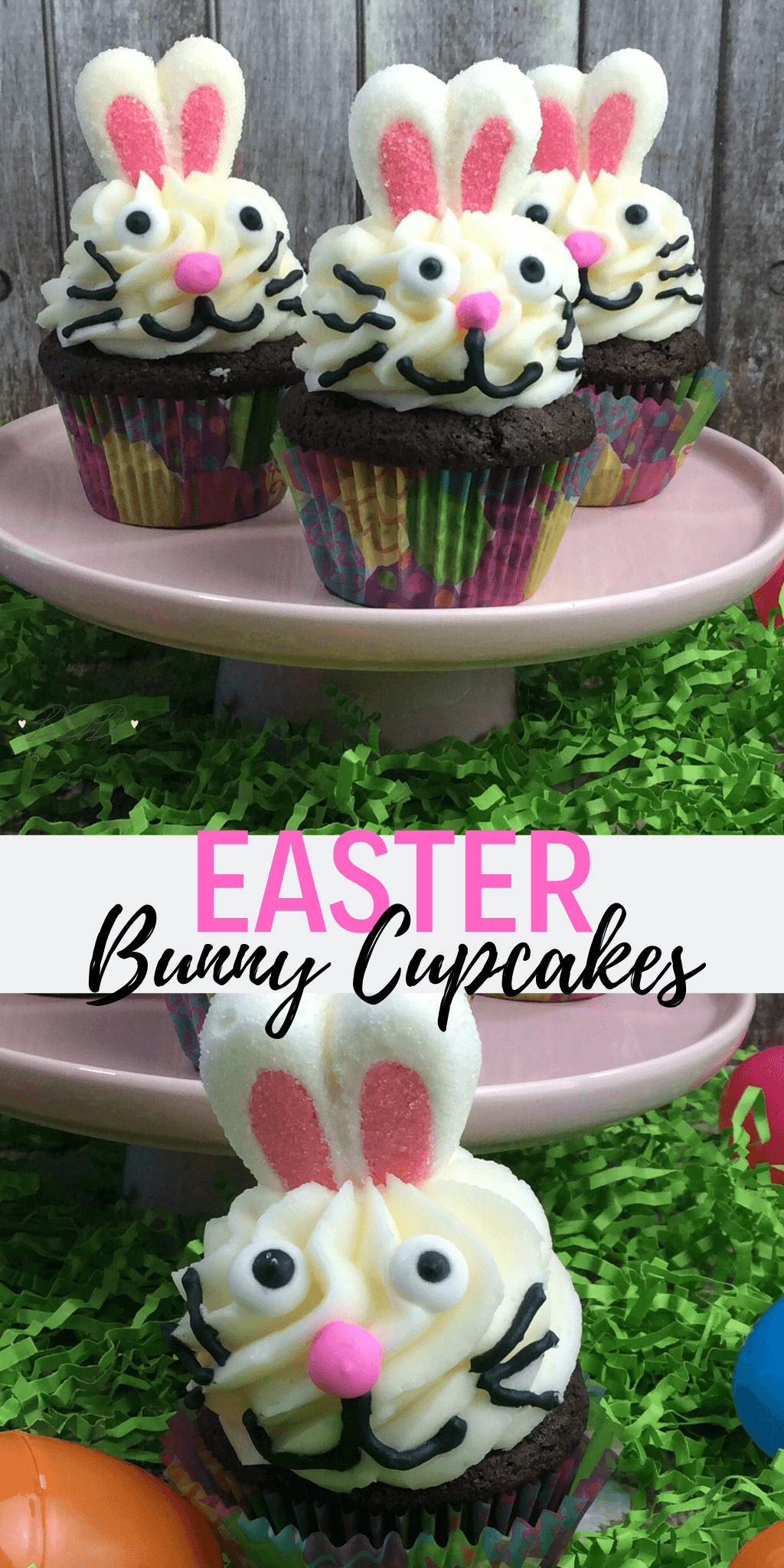 cute bunny easter cupcakes