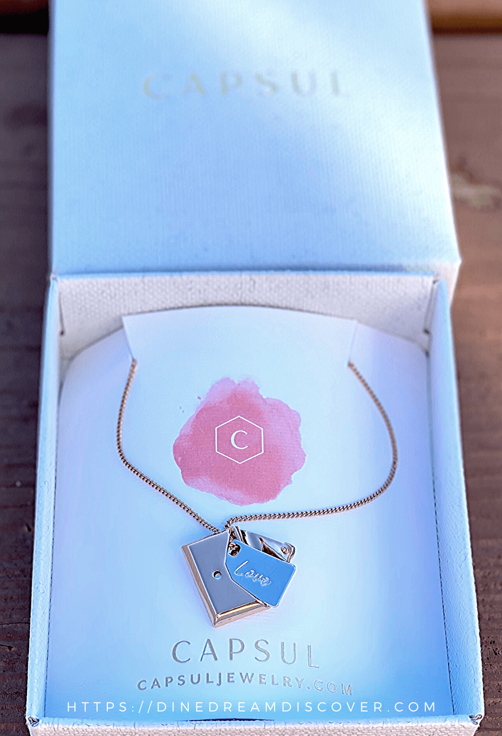 Envelope Locket Necklace