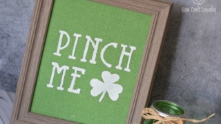 Easy St Patrick's Day Burlap Sign
