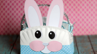 Paper Plate Easter Bunny Basket