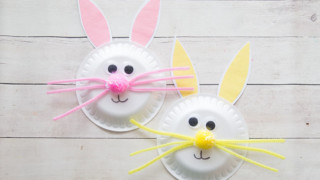 Paper Plate Easter Bunny Craft