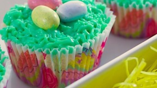 Birds Nest Easter Cupcakes