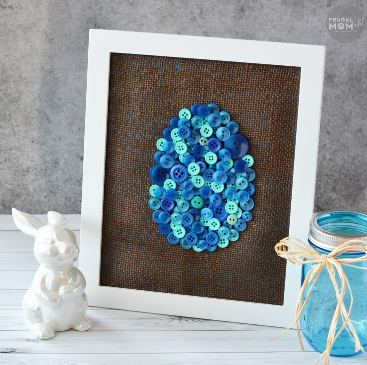 DIY Easter Egg Button Art