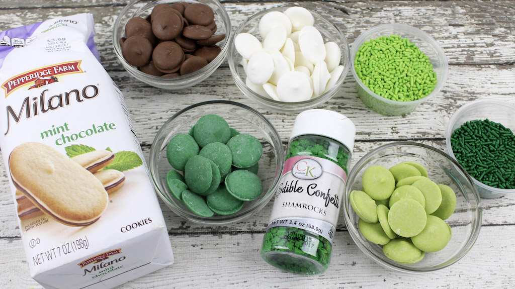 chocolate dipped milano cookie ingredients
