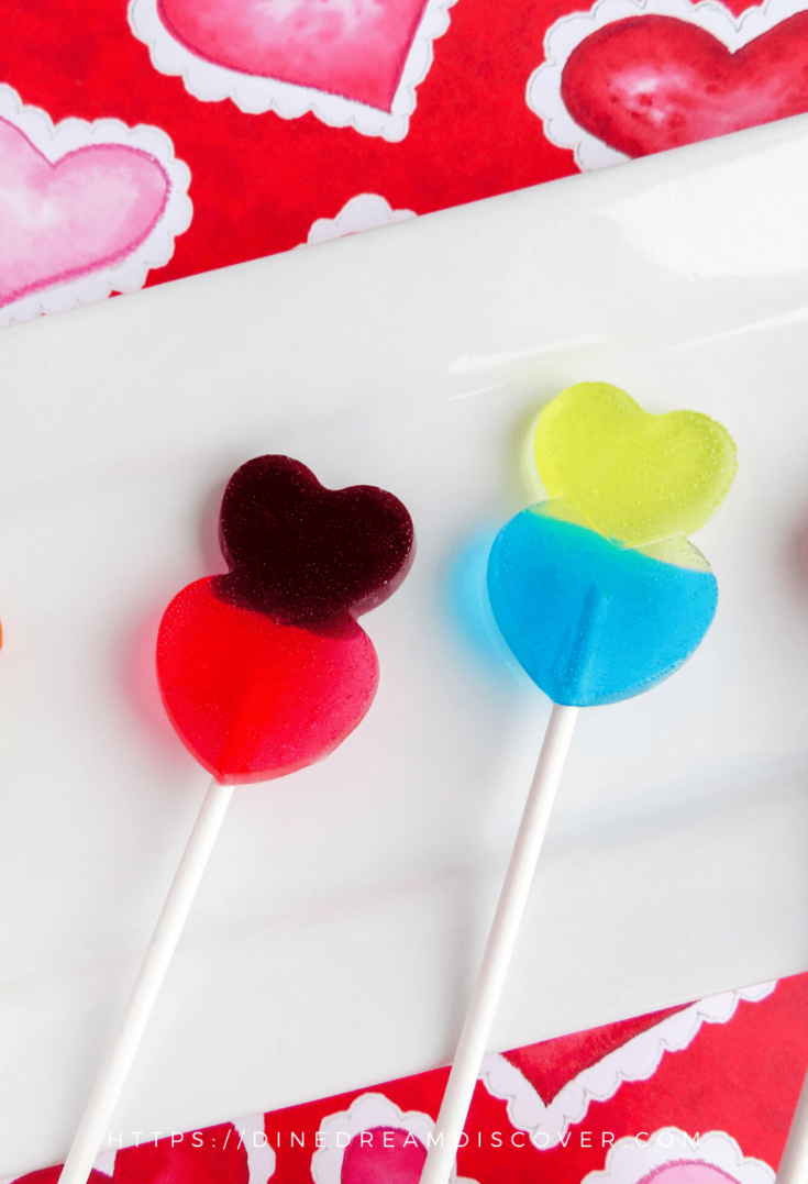 Valentine Jolly Rancher Lollipops Heart Shaped