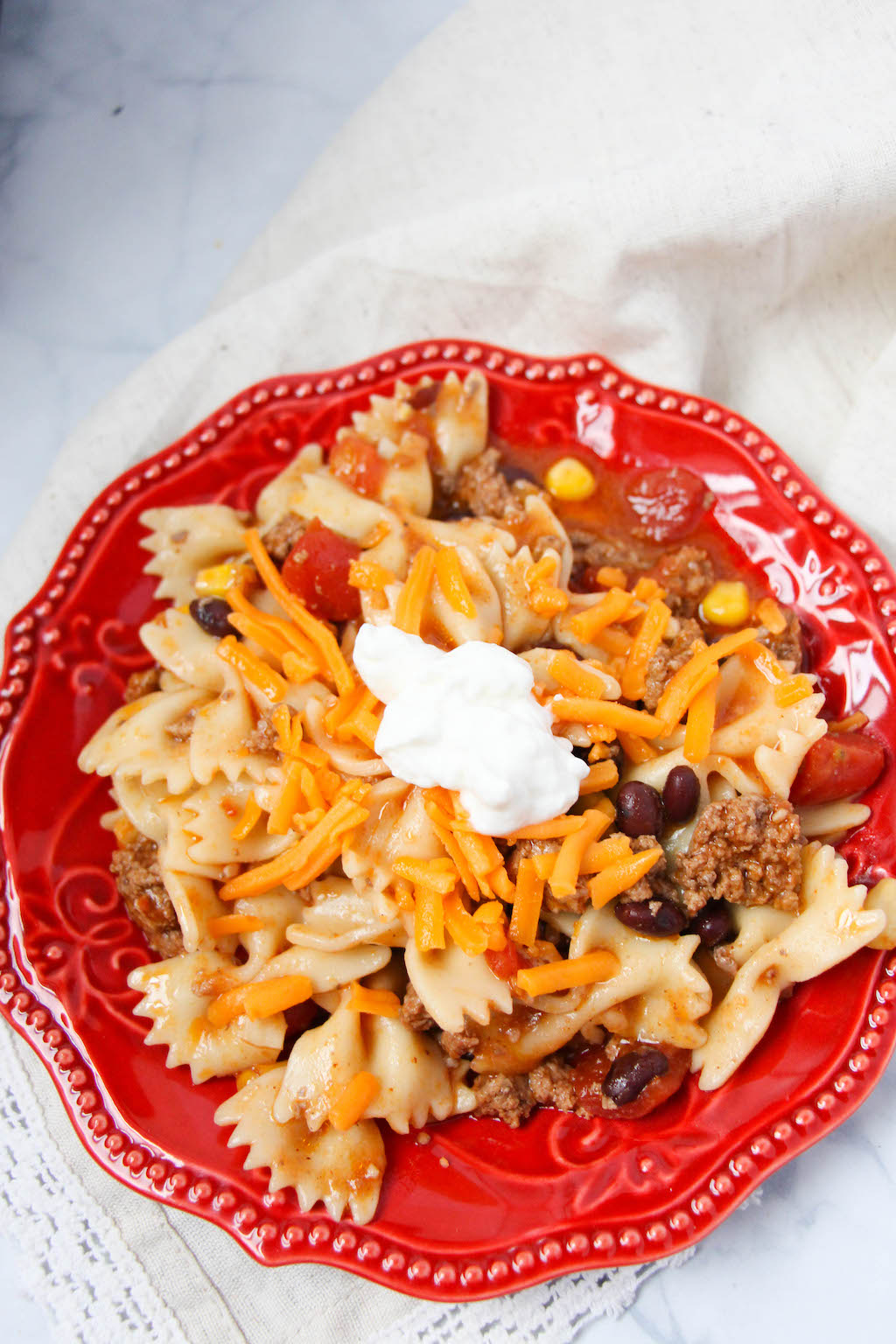 sweet and savory taco pasta instant pot