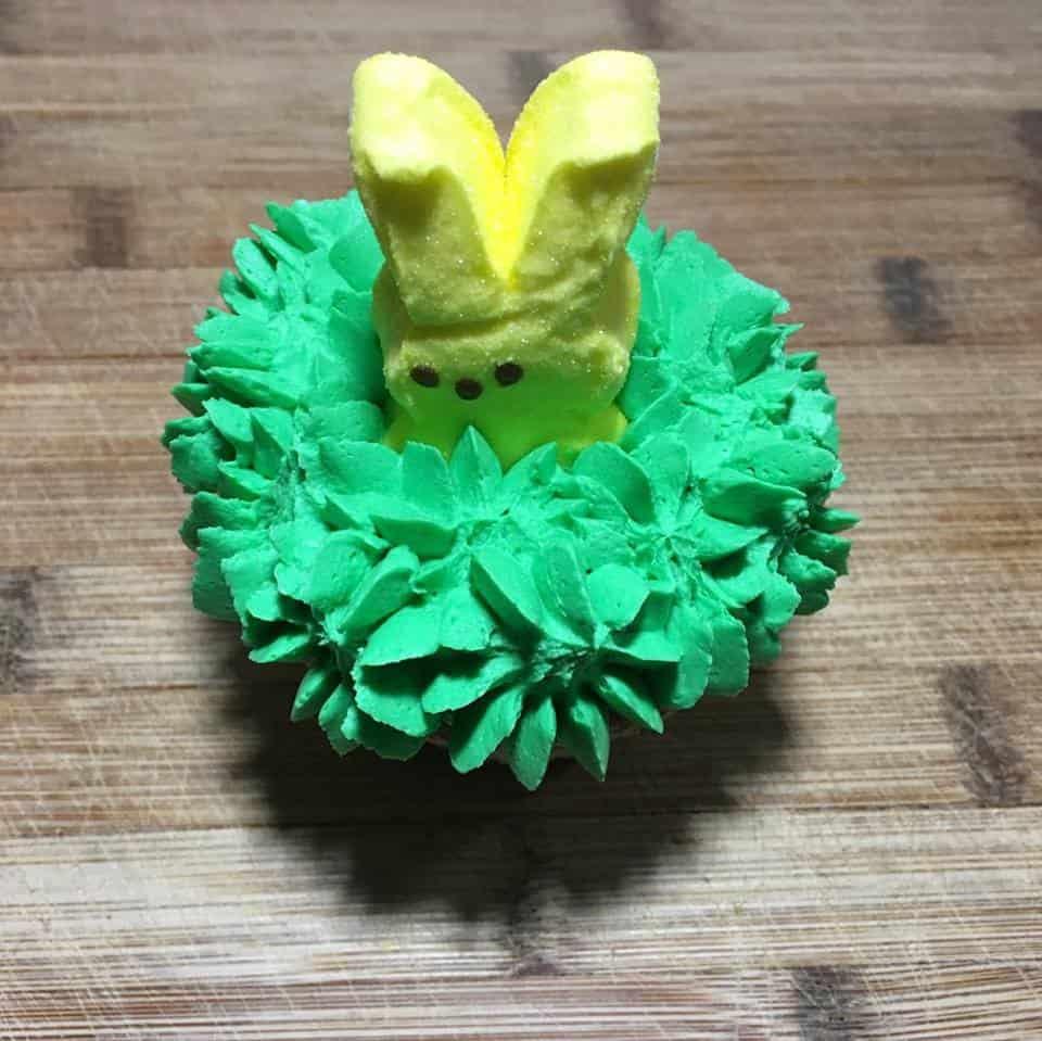 peep in cupcake