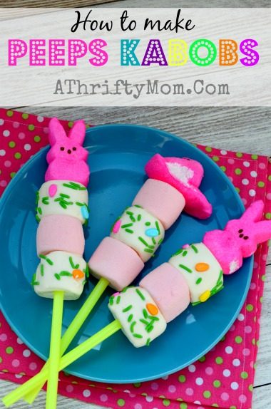 Peeps Kabobs ~ Quick and easy Easter Treat #Easter #Peeps
