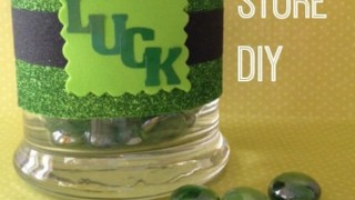 Frugal St. Patrick Day Craft - DIY Candle Holder Decoration