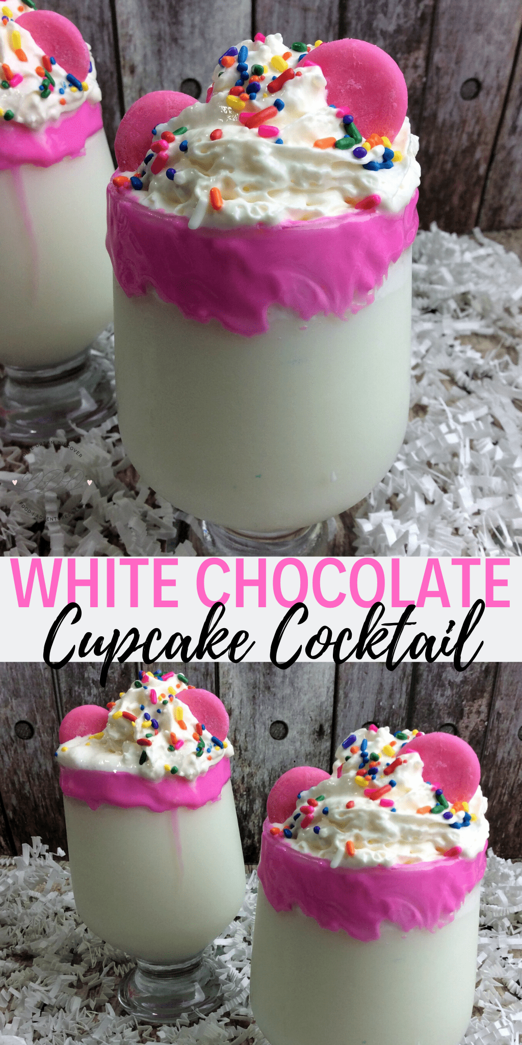 White Chocolate Cupcake Cocktail