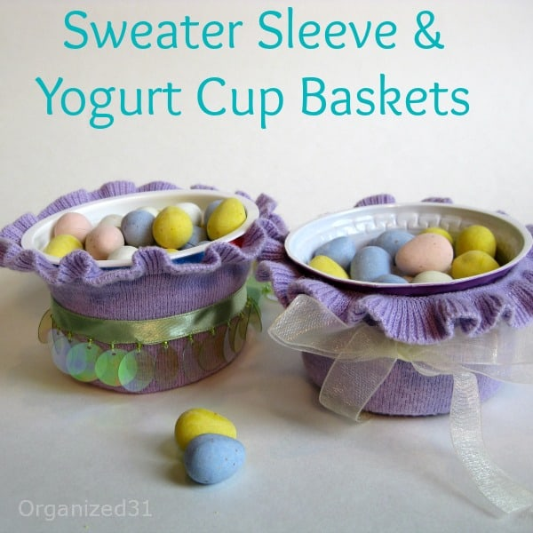 Sweater Sleeve Easter Cups