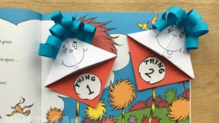 Dr. Seuss Bookmarks - Thing 1 & Thing 2