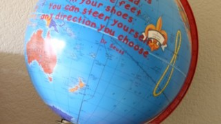 Dr. Seuss Craft :: Quote on a Globe