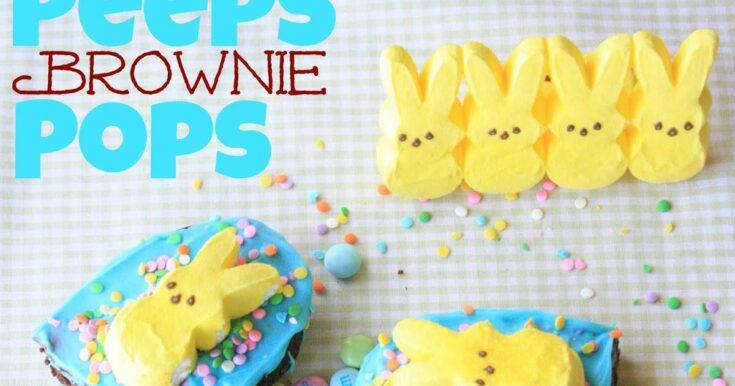 Peeps Brownie Pops