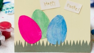 Paper Egg Easter Card -- Easy Craft for Kids