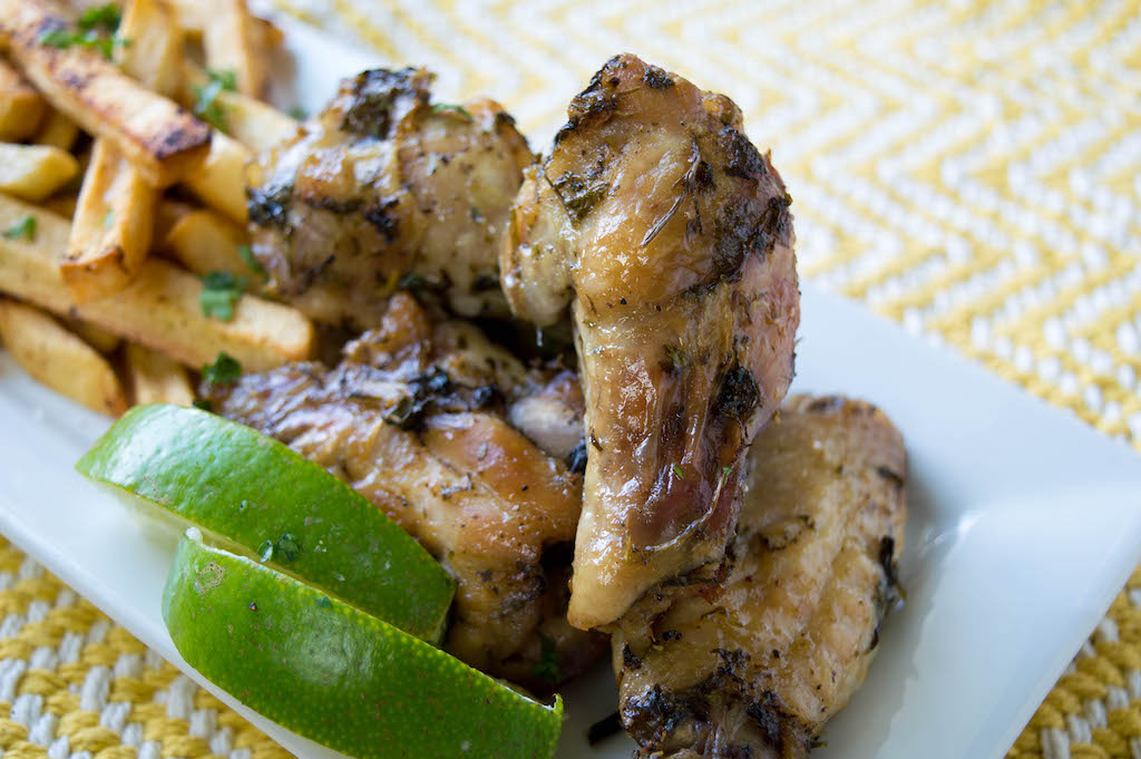 oven baked cilantro lime chicken wings