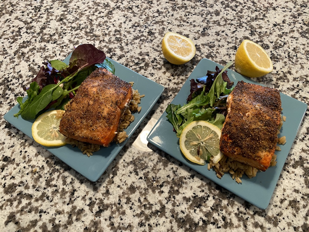 air fryer frozen salmon fillets