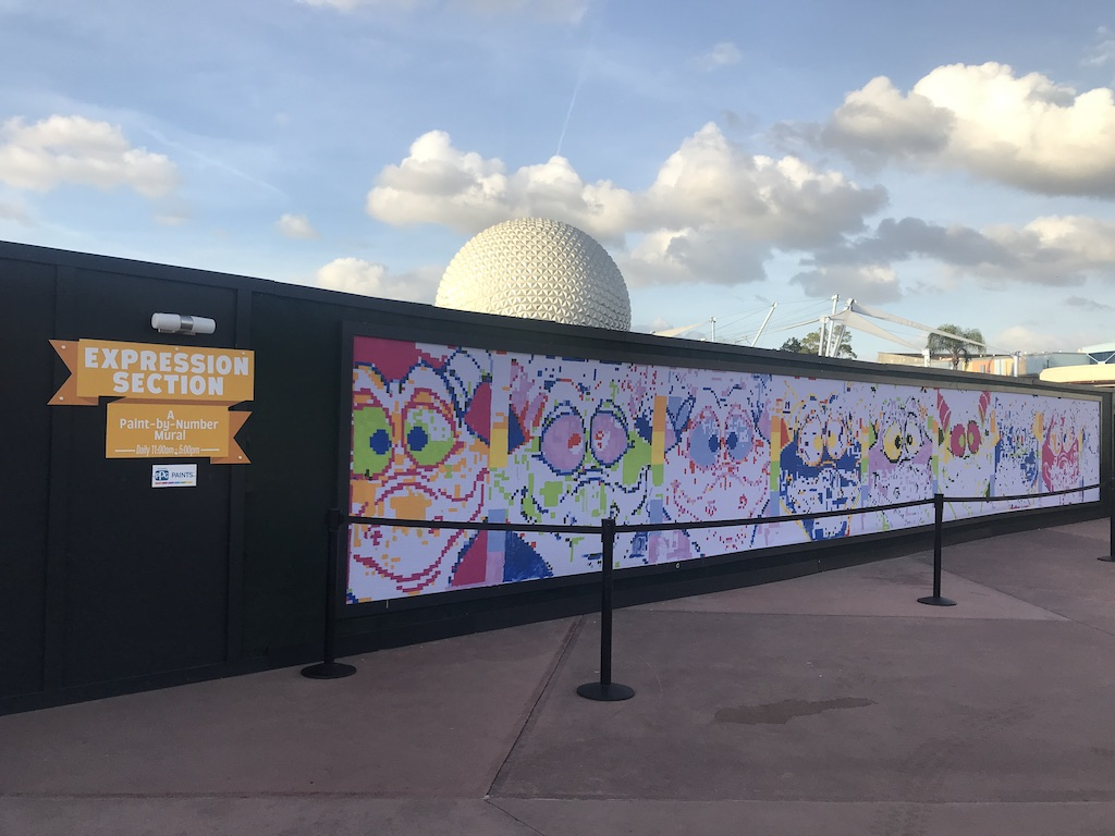 paint by number mural epcot