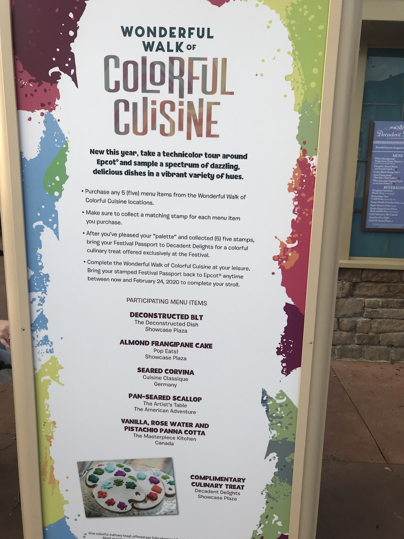 wonderful walk of colorful cuisine