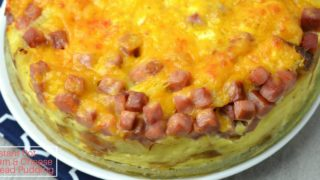 Instant Pot Ham & Cheese Bread Pudding
