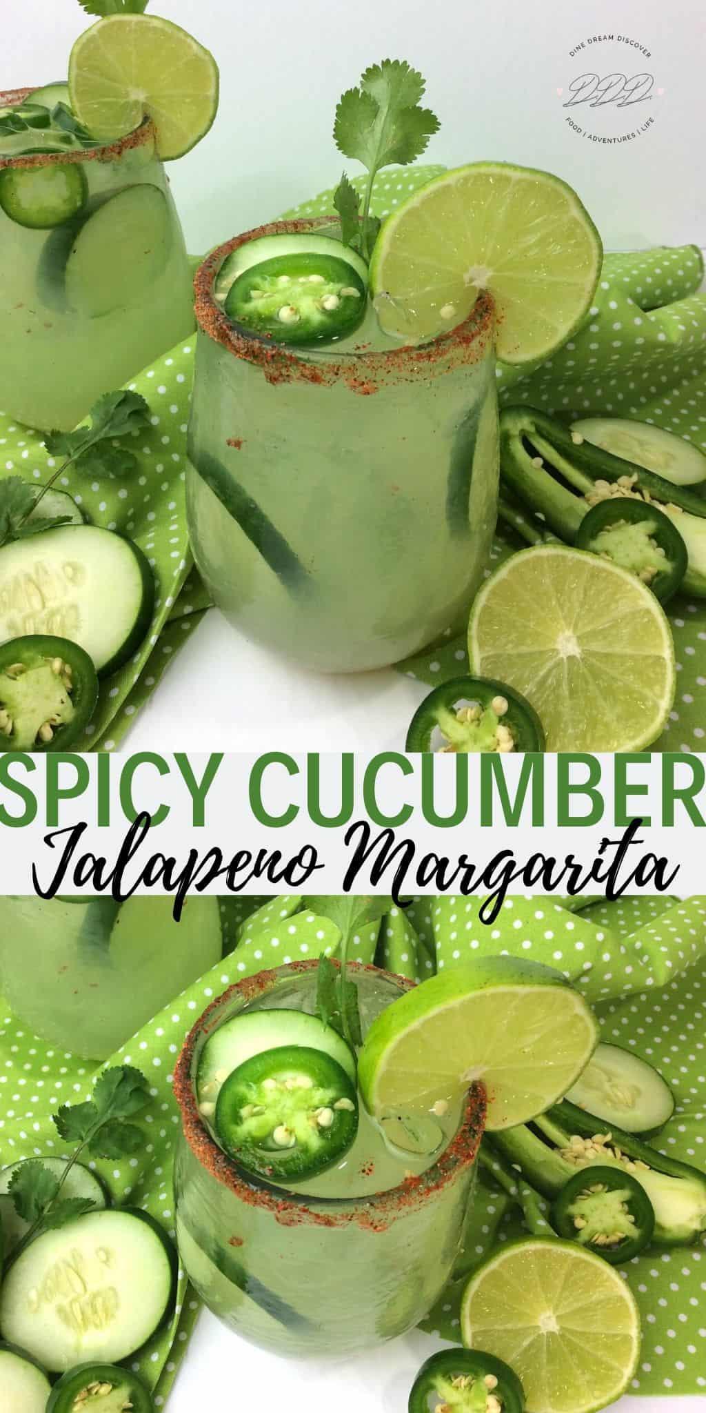 spicy cucumber jalapeno margarita recipe
