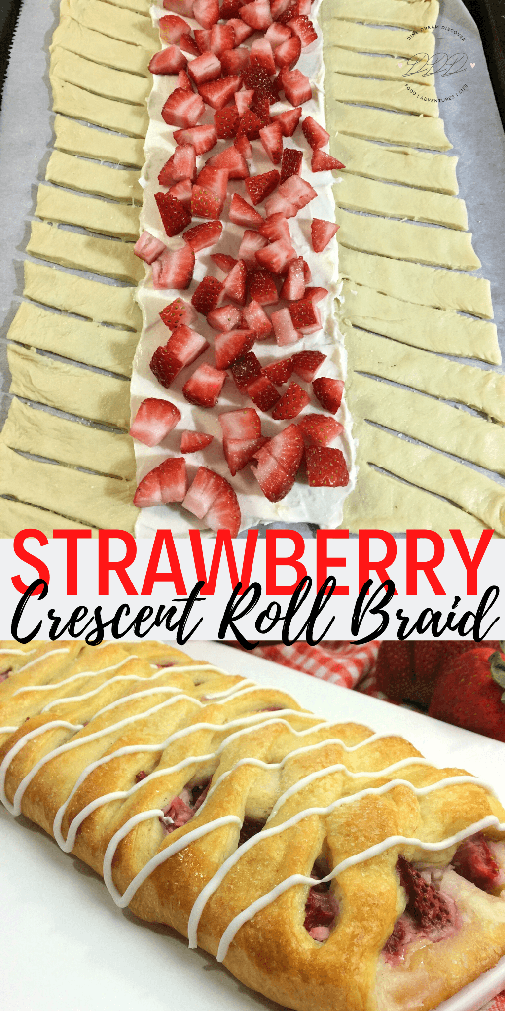 Strawberry Crescent Roll Braid