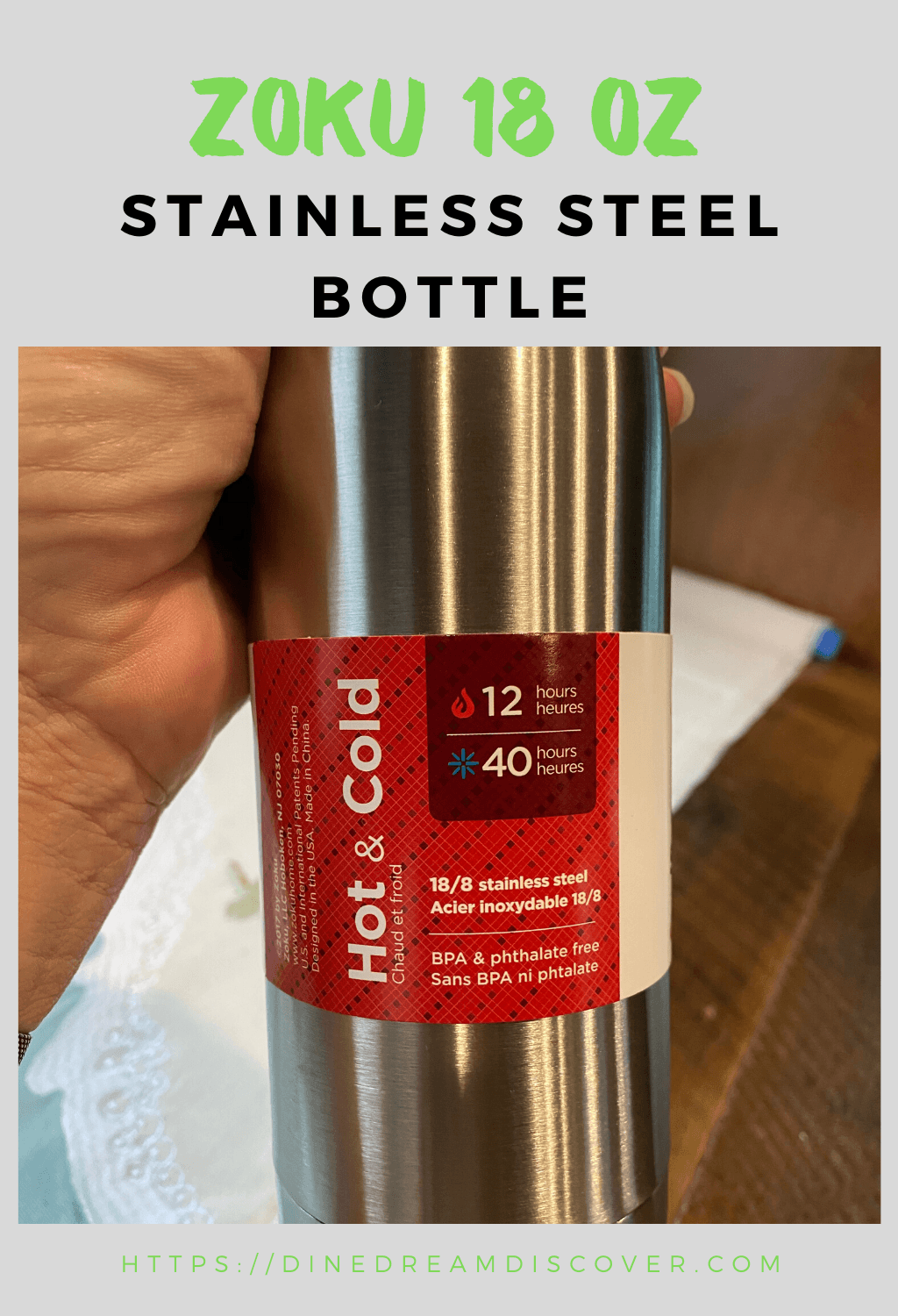 stainless steel hot and cold bottle