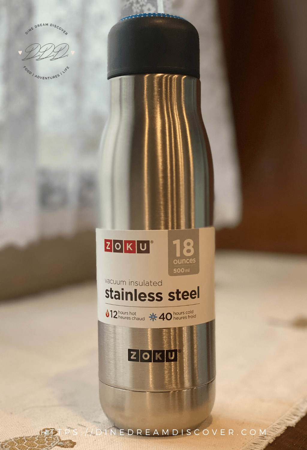 ZOKU 18 oz Stainless Steel Bottle