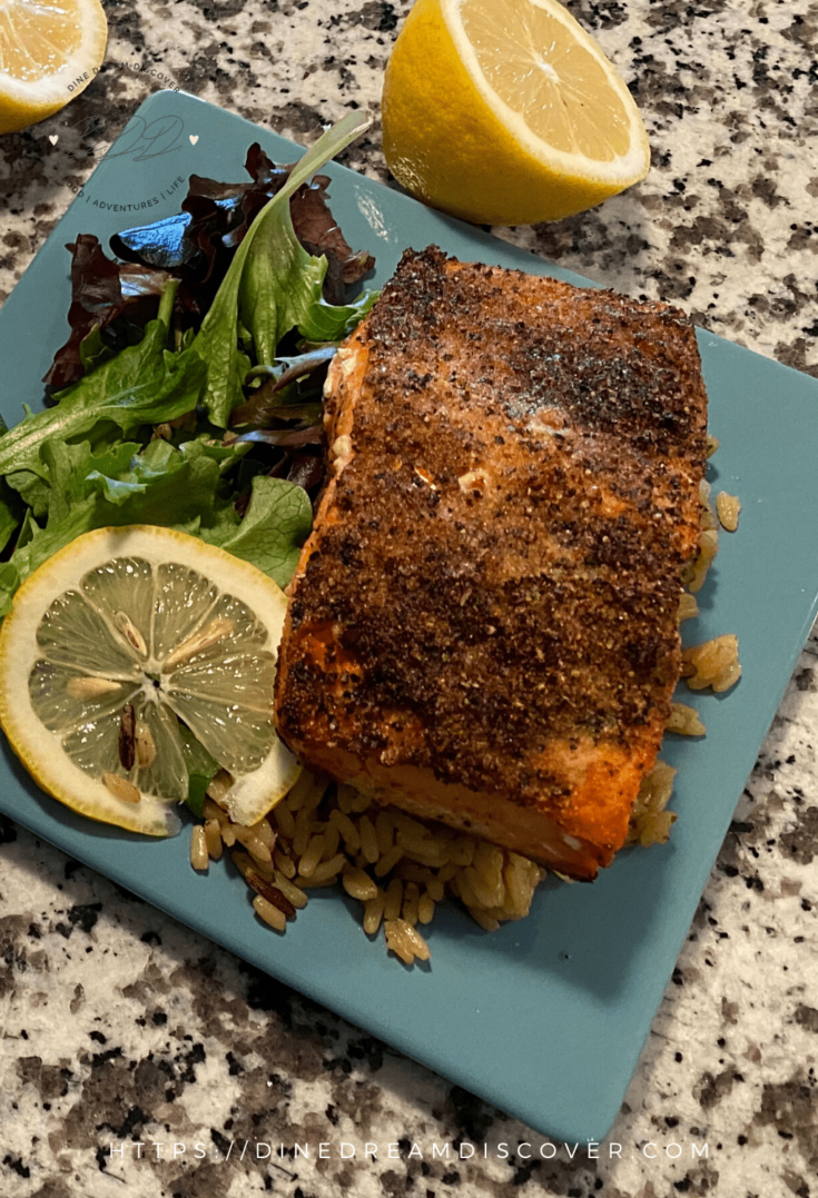 Air Fryer Salmon - Lemon Pepper