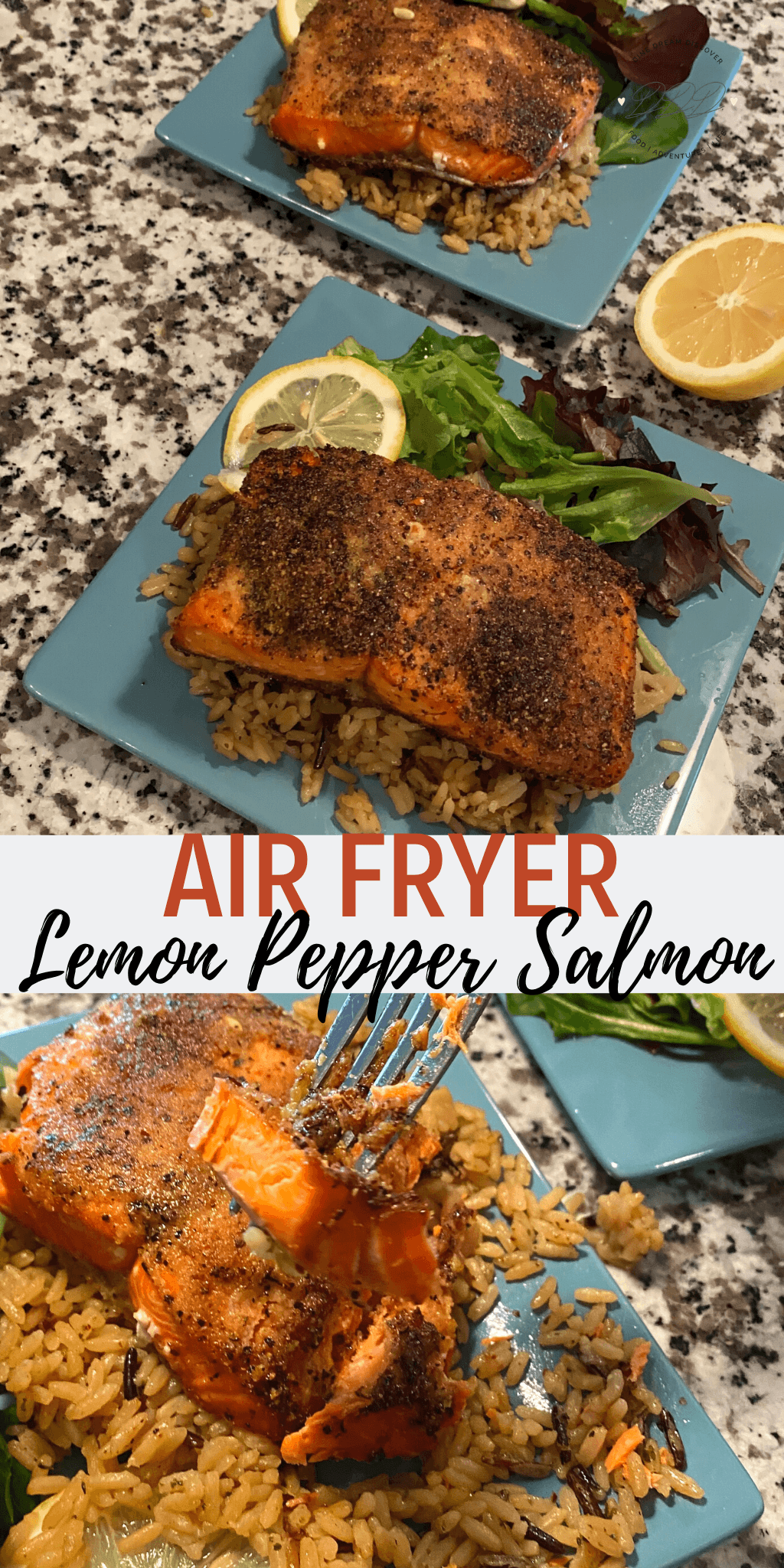 air fryer salmon lemon pepper
