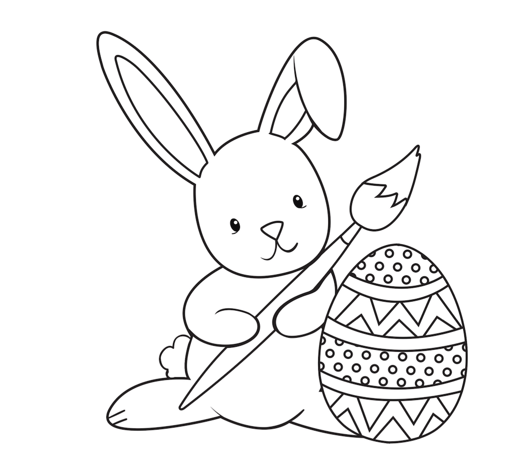 easter coloring page pdf