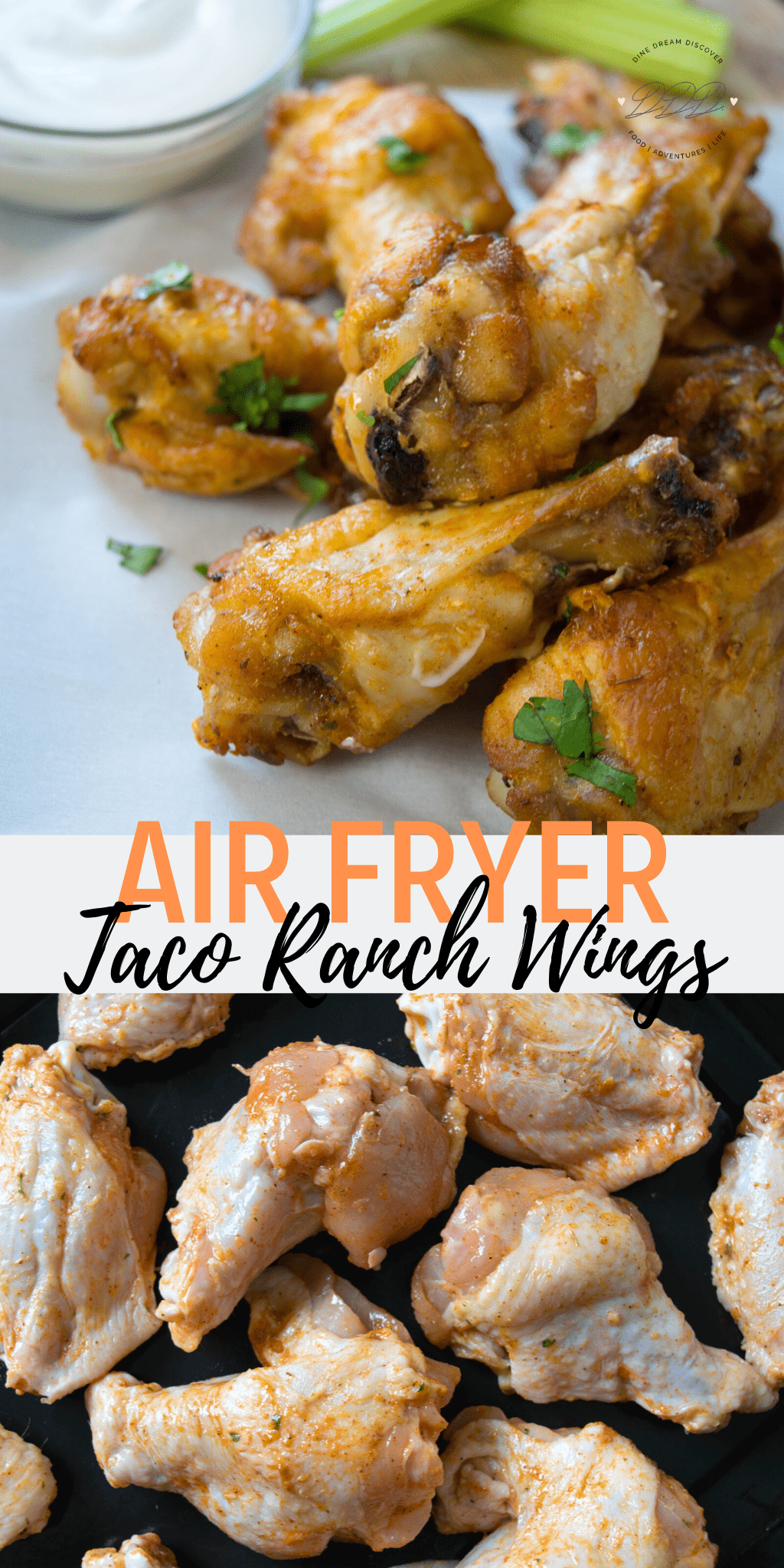 Air Fryer Taco Ranch Chicken Wings