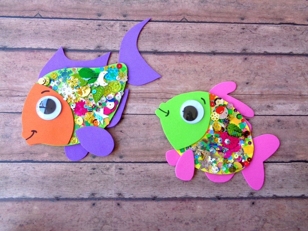 confetti fish crafts