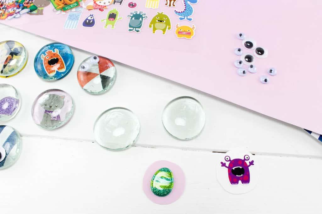 Diy Magnets Glass Stones Craft Dine Dream Discover