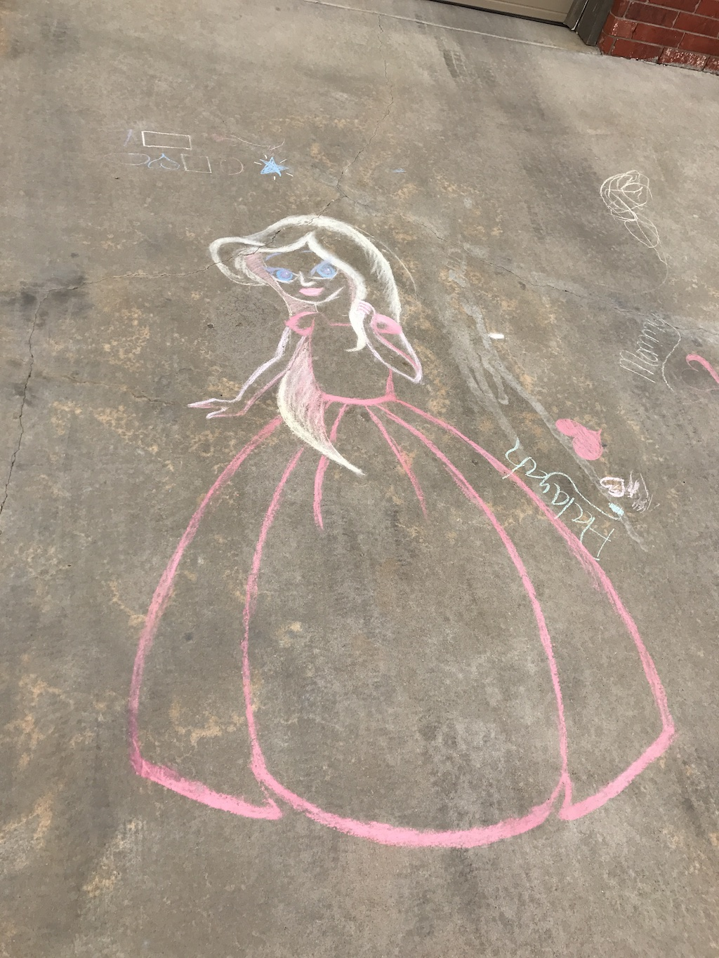 disney princess with diy sidewalk chalk