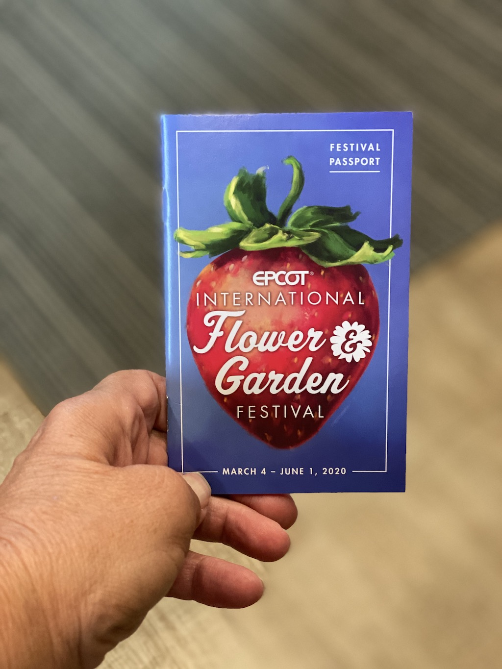 EPCOT FLOWER AND GARDEN FESTIVAL PASSPORT