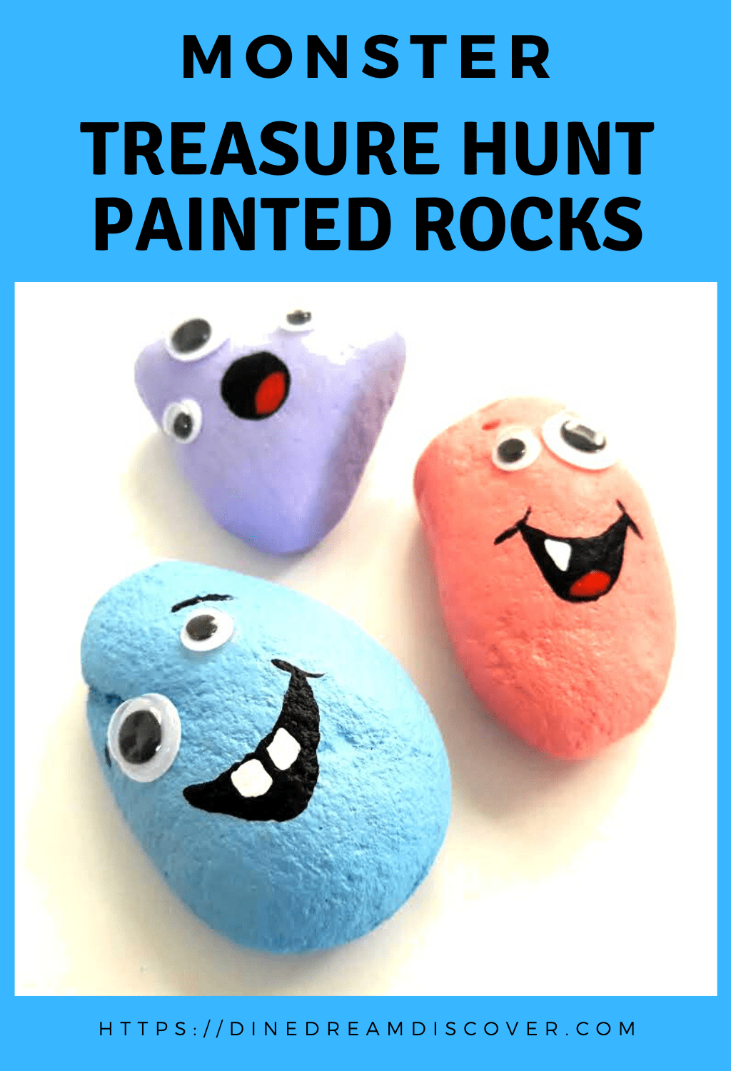 googly eyed monster rocks